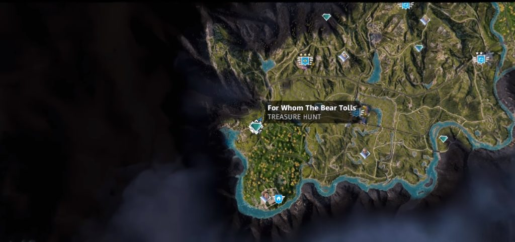 Far Cry New Dawn For Whom the Bear Tolls Treasure Hunt Location Map