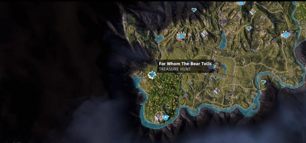 Far Cry New Dawn For Whom the Bear Tolls Treasure Hunt Location Map