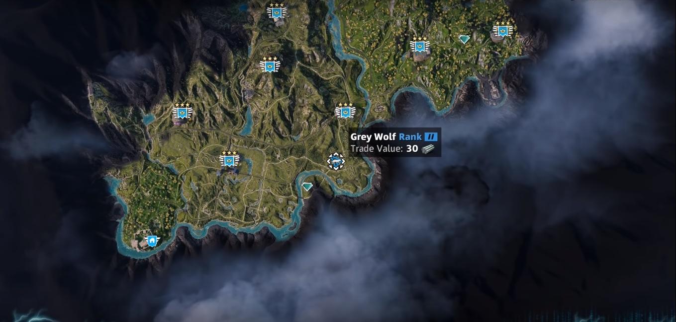 Wolf Far Cry New Dawn Location Hunting Spot Skin Value