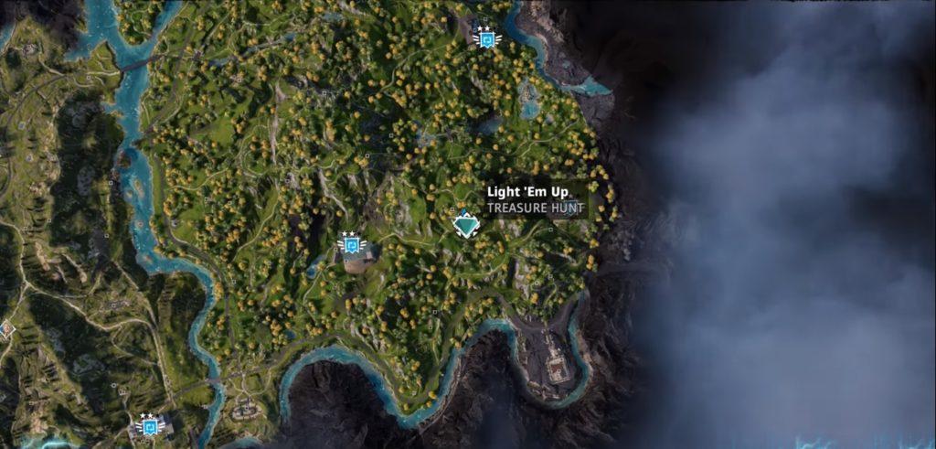 Far Cry New Dawn Light 'Em Up Treasure Hunt Location