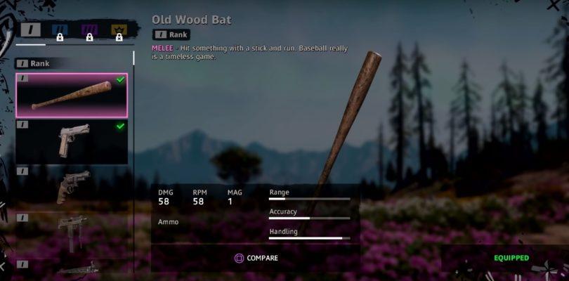 Far Cry New Dawn Old Wood Bat Weapon Location