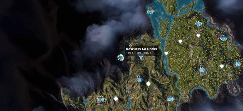 Far Cry New Dawn Rescuers Go Under Treasure Hunt Location