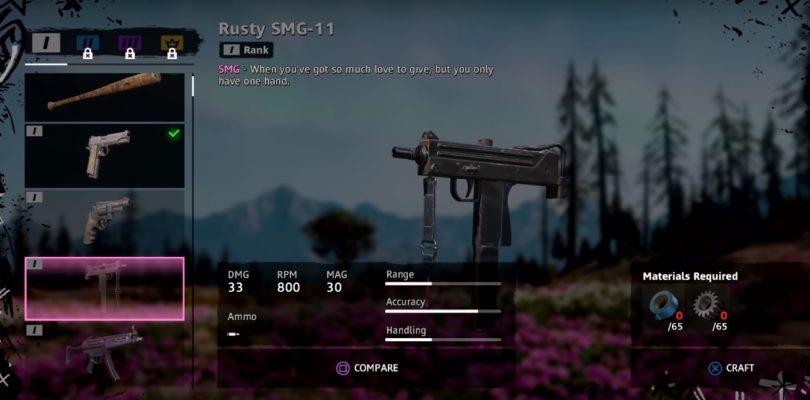 Far Cry New Dawn Rusty SMG 11 Weapon Location
