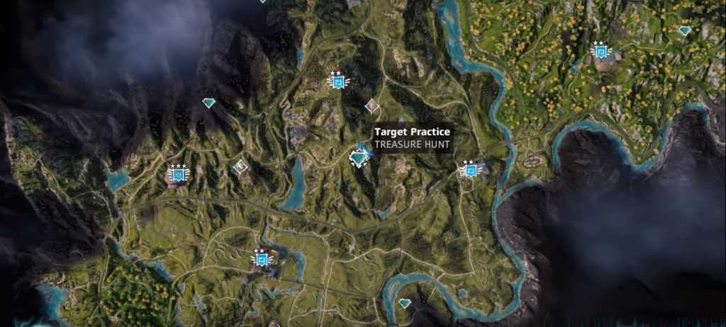 Far Cry New Dawn Target Practice Treasure Hunt Location