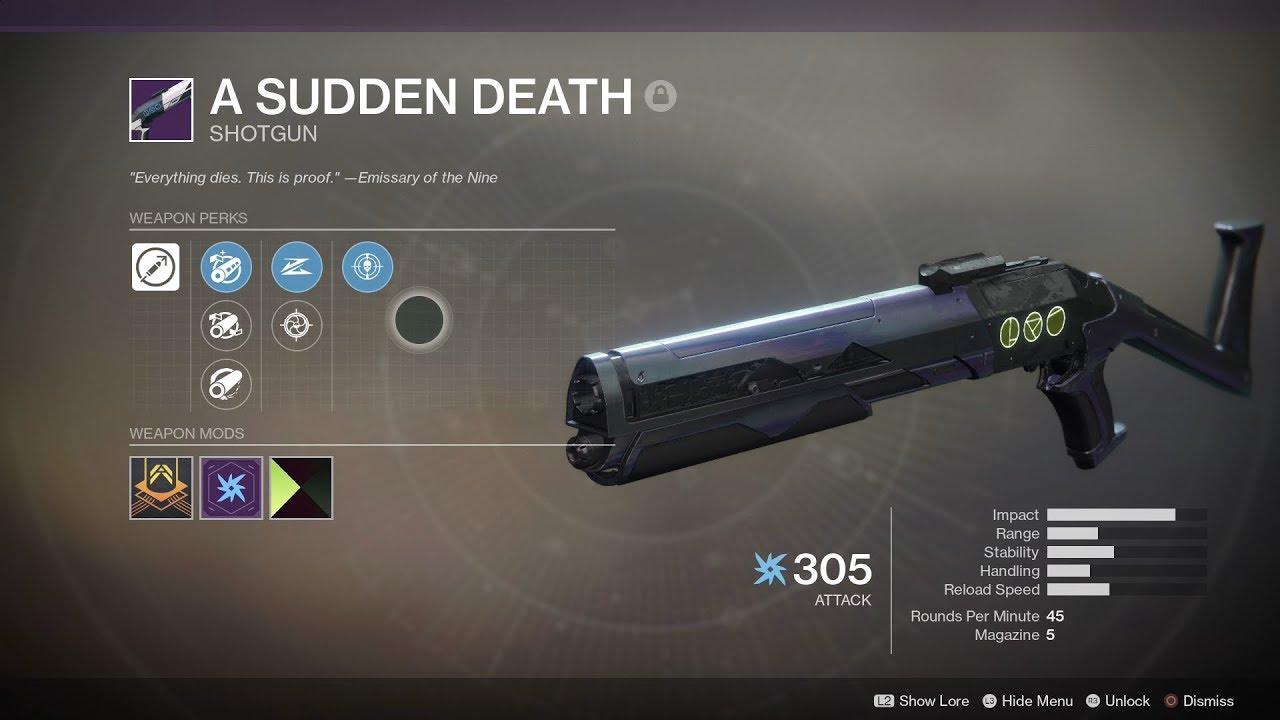 A Sudden Death - Shotgun