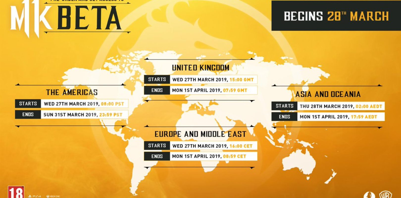 Closed Beta | Mortal Kombat 11 | Start & End Dates | PrimeWikis