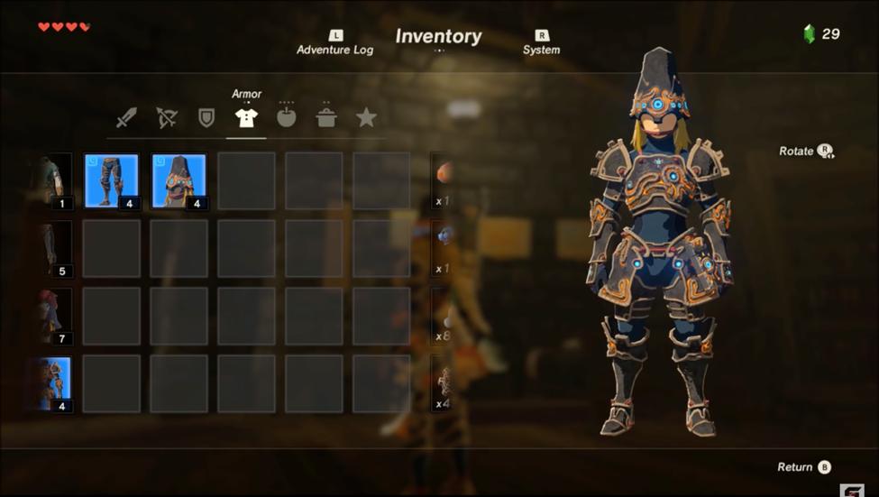 Legend of Zelda Guardians Armor Shield