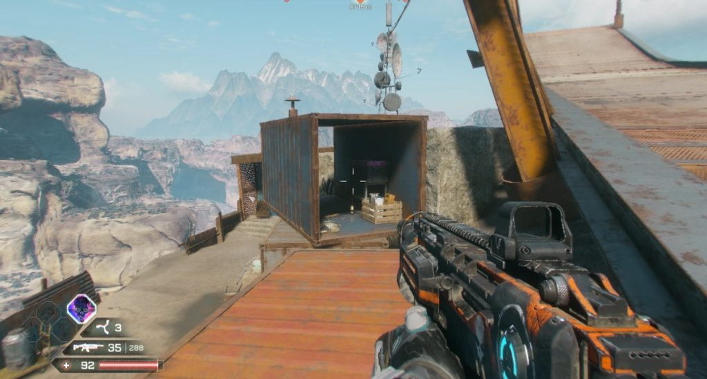 RAGE 2 Cliff Side Outlook Hidden Storage Container Location 1