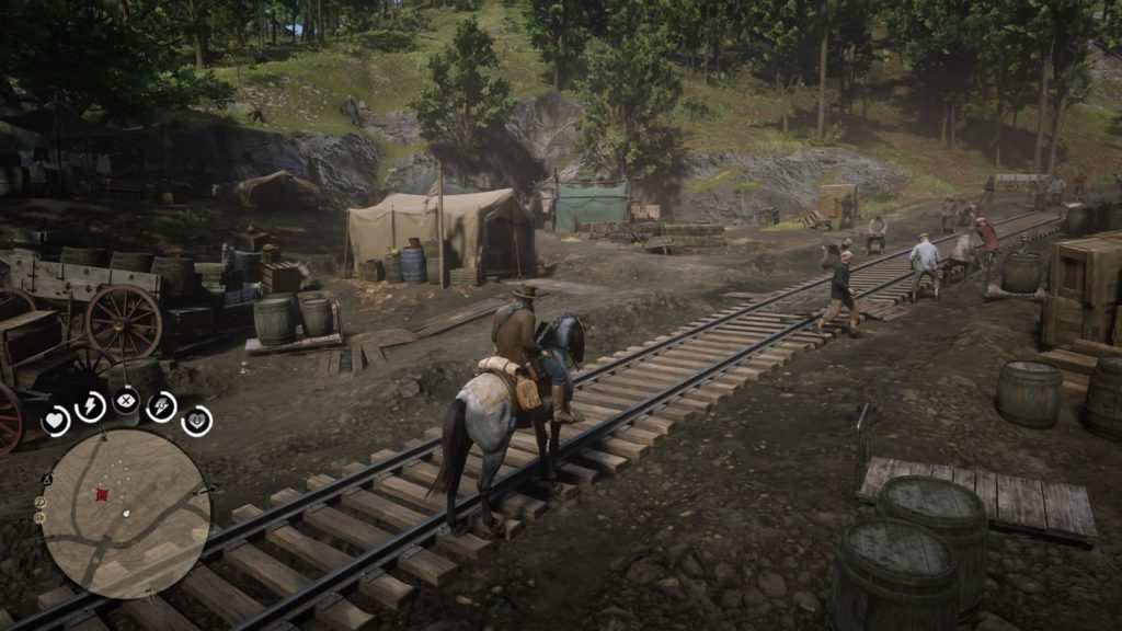 Red Dead Redemption 2 Central Union Railroad Camp Event Area