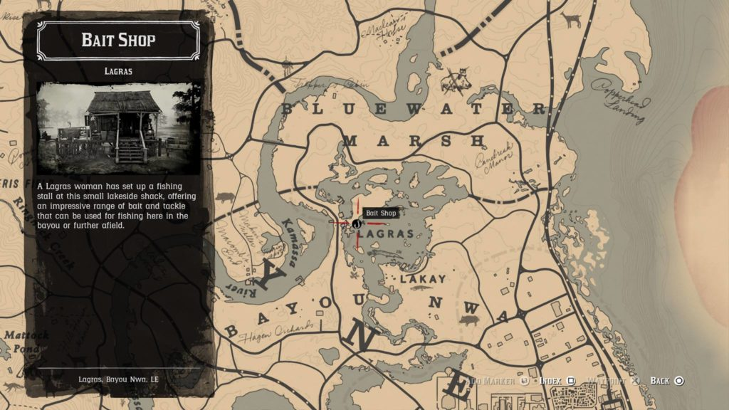 Red Dead Redemption 2 Lures and Baits Store Location