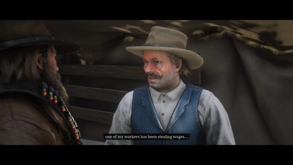 Red Dead Redemption 2 Senior Foreman Percy Whitsickle