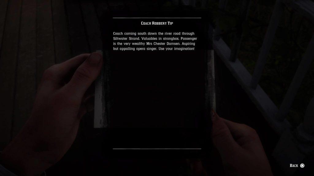 Red Dead Redemption 2 SiltwaterStrand Coach Document