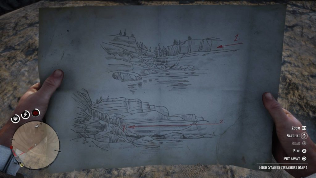Red Dead Redemption 2 High Stakes Treasure Map 1