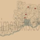 RDR2 Jack Hall Gang Treasure Hunt Locations Map