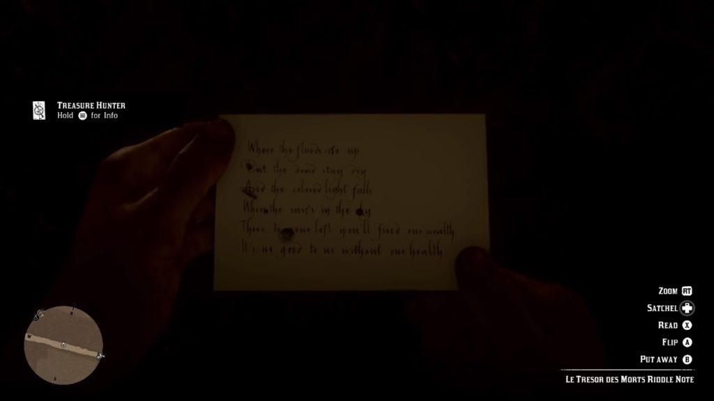 Red Dead Redemption 2 Le Tresor Des Morts Riddle Note