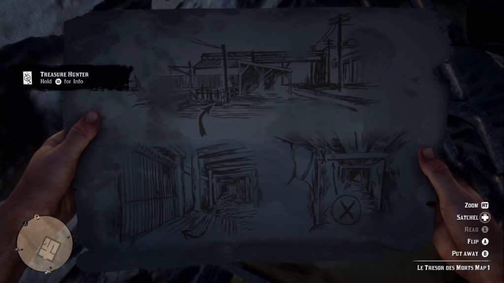 Red Dead Redemption 2 Le Tresor Des Morts Treasure Map 1