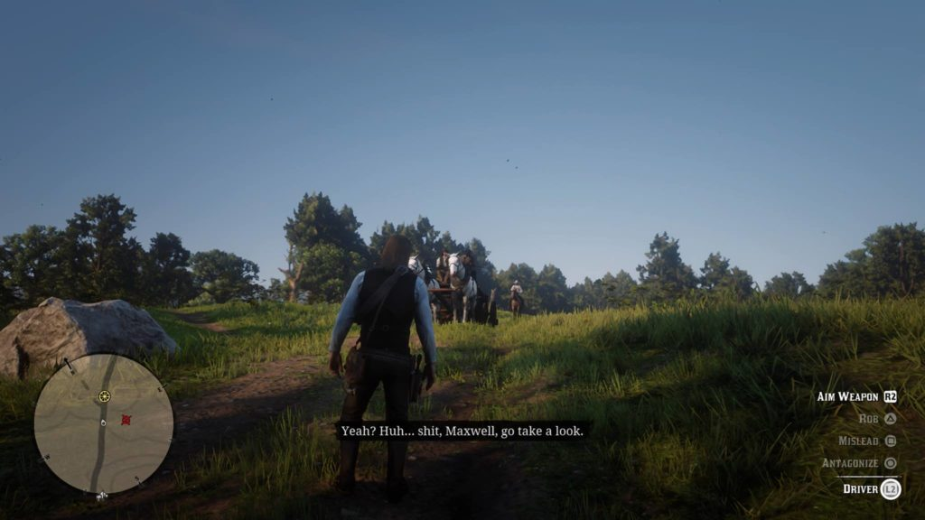 Red Dead Redemption 2 North Scarlett Meadows Coach Robbery