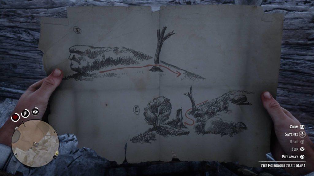 Red Dead Redemption 2 Poisonous Trail Treasure Map 1