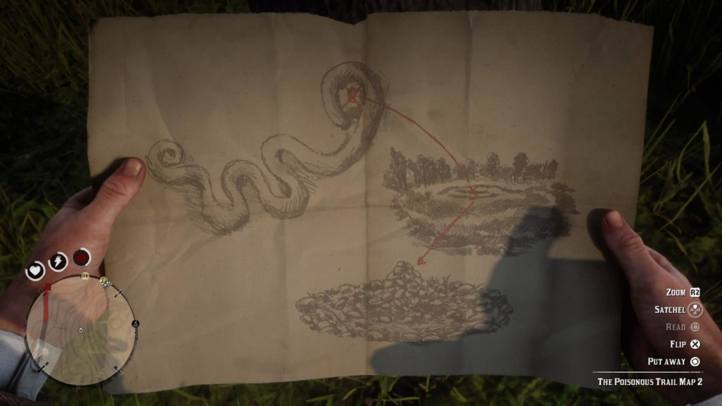 Red Dead Redemption 2 Poisonous Trail Treasure Map 2