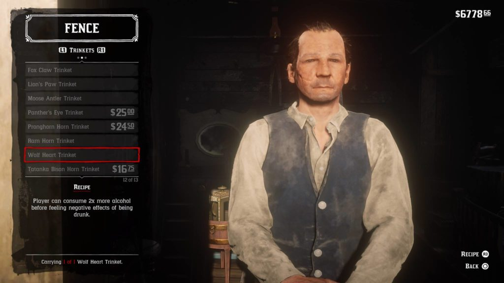 Red Dead Redemption 2 Wolf Heart Trinket Crafting Guide