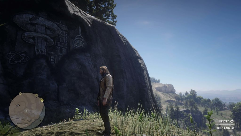 RDR2 Cumberland Forest Rock Carving Location