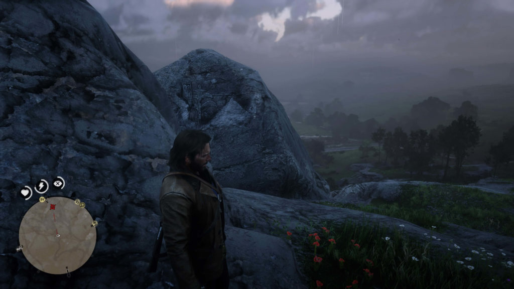 RDR2 Heartland Overflow Rock Carving Location