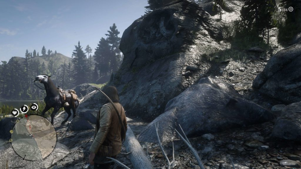 RDR2 Owanjila Lake Rock Carving Location