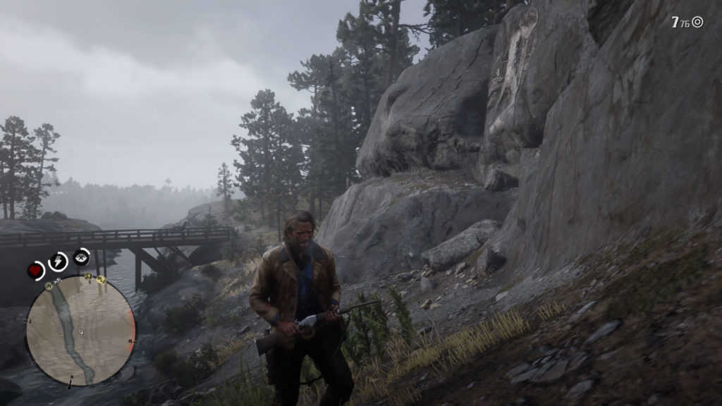 RDR2 Whinyard Strait Rock Carving Location