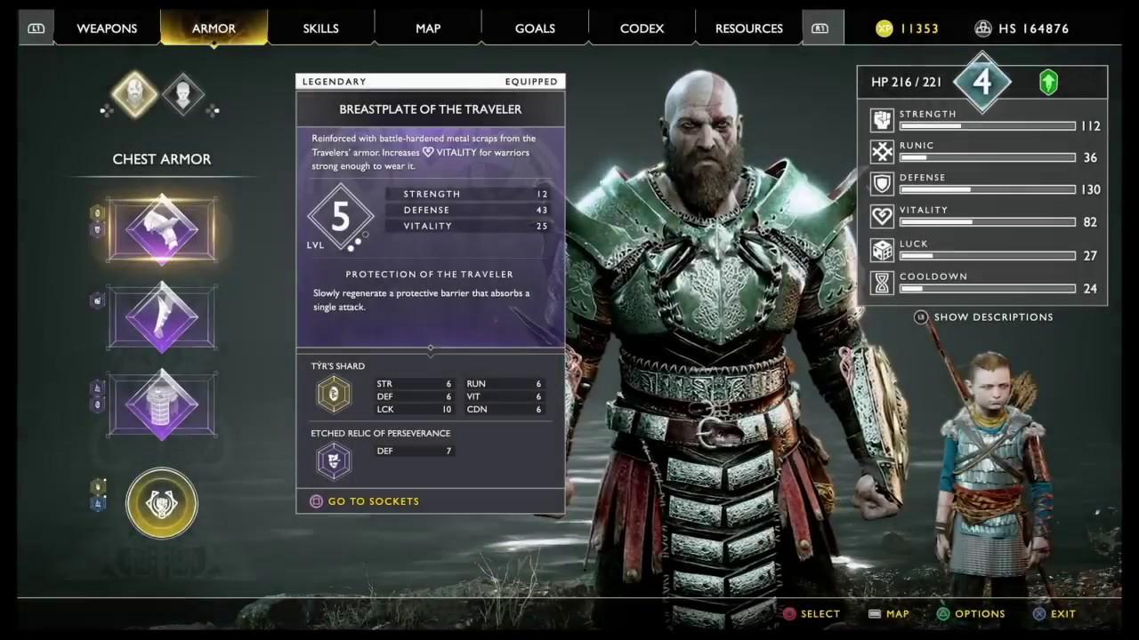 traveller God of War Armor